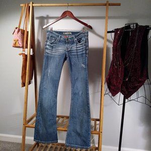 BKE Denim Stella Distressed Bootcut Jeans